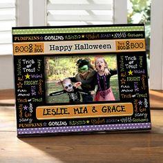 Personalized Halloween Picture Frames - Halloween Memories - 10807