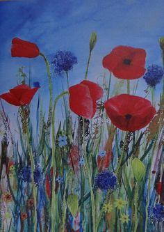 NOVEMBER 2012 - Poppies - Poppies Art Card, by FlowaPowa Art, £2