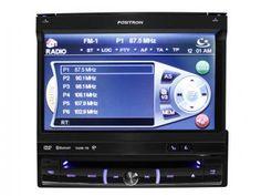DVD Automotivo Pósitron SP6861NAV Tela Retrátil 7 - GPS Integrado + TV Digital + Bluetooth
