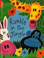 "Beth's Music Notes: resources  Teaching rhythm with ""Rumble in the Jungle"".  Includes printable resources for the book."