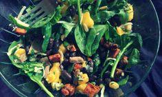 Sweet potato mango tropical salad. yumm