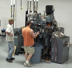 An SMT vinyl record press run by Quality Record Pressings in Salina, Kansas, United States