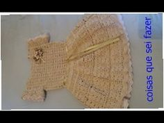 Vestido de crochê infantil - parte 1 - YouTube