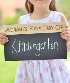 Personalized 'First Day Of' Chalkboard Sign