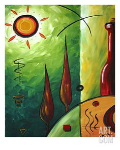 Garden Of Love Giclee Print by Megan Aroon Duncanson at Art.com