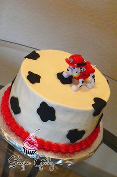 Paw Patrol First Birthday Smash Cake - By Sugie Galz in Austin Texas