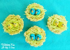 Rice Krispies Baby Bird Nest Treats #easytomake