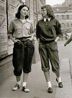 mode annees 40 femme et pantalon