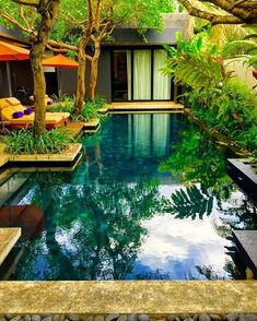 Luxury Pools Archives - Pg 5 of 10 -- Taken from Pinterest Pg w/ Several Pools... Gardens around quite a few that are Super Pretty!! = https://www.pinterest.com/pin/310607705540915400/ #PoolLandscape