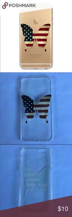 iPhone 6/6S American Flag Butterfly Case NWT! Reasonable Offers Only please  •Bundle any 2 Cases for $13• • Bundle any 3 for $18•                                                        Please Follow :  Instagram: vinyl_by_rachel Pinterest: rachelp2426 Etsy: monogramdecalqueen Accessories Phone Cases
