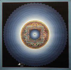 Purple Cosmos Kalachakra Mandala Thangka Painting Nepal