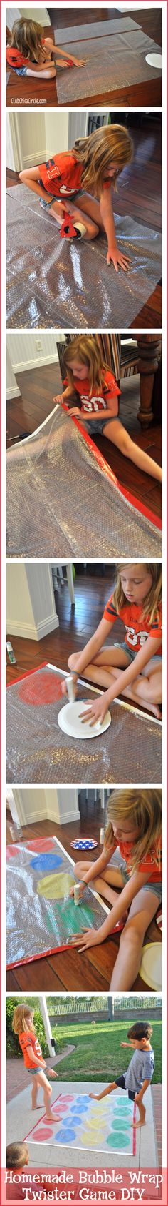 Homemade Bubble Wrap Twister Game DIY - fun weekend craft idea for kids