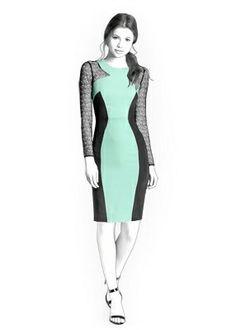 Benutzerdefinierte Größe Schnittmuster für ein elegantes Kleid.  Größen…
