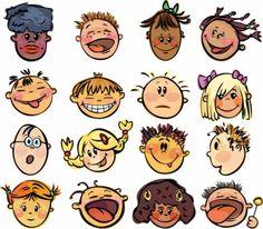cartoon faces vector
