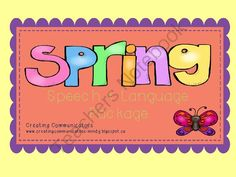 Spring Speech and Language giveaway! - Cute little Spring speech