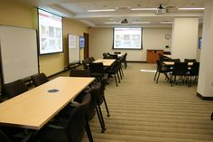 Larsen 214 Features Moveable Whiteboards and Tables Conducive to Group Learning