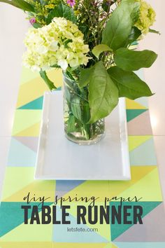 DIY Spring Paper Table Runner | anightowlblog.com