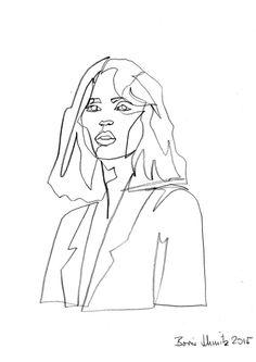 "borisschmitz:  ""Gaze 182"", one-continuous-line-drawing by Boris Schmitz, 2015» click here for my portfolio «"