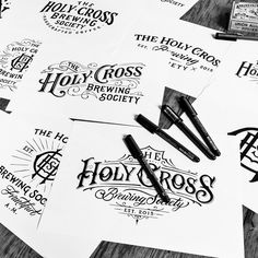 """Check out this @Behance project: """"Collection of hand-drawn Logotypes from 2015"""" https://www.behance.net/gallery/33099707/Collection-of-hand-drawn-Logotypes-from-2015"""