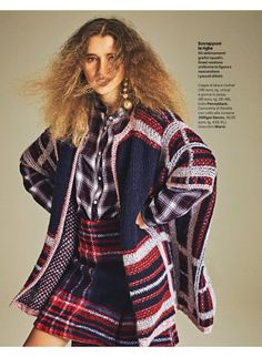 Donna Moderna Italy- Pennyblack tartan skirt and cover up