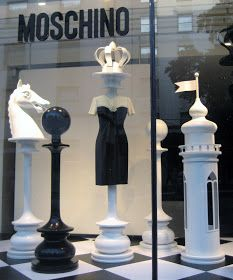 vitrine RetailStoreWindows: Moschino, London Acne- Do Miracle Cures Work? Fashion Window Display, Window Display Design, Shop Window Displays, Store Displays, Retail Displays, Clothing Displays, Art Deco, Store Windows, Visual Display