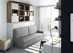 """Putting The """"Living"""" Into Your Living Room Furniture Living Room Furniture, Living Room Decor, Bedroom Decor, Small Space Living, Small Spaces, Murphy Bed, Furniture Arrangement, Interior Design Living Room, Storage Spaces"""