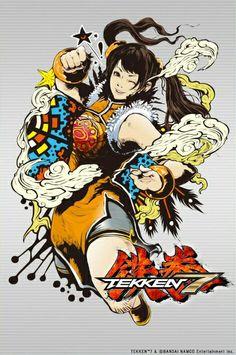 Tekken 7 Ling Xiaoyu panel by Jbstyle