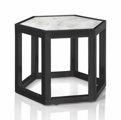 JOSEF HOFFMANN (1870-1956) A UNIQUE SIDE TABLE, CIRCA 1904 ebonized maple, marble 20 in. (50.8 cm.) high, 27 ¼ in. (50.8 cm.) wide, 27 ¼ in. (69.2 cm.) deep