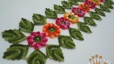 Caminho de Mesa em Croche Encantos da Natureza - Aprendendo Crochê, via YouTube.