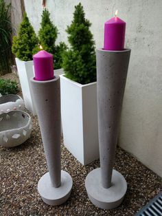 If you are up to implementing some modern and minimal decor, then this post will be so helpful. Check out this contemporary DIY cement decor! Cement Art, Concrete Cement, Concrete Crafts, Concrete Projects, Concrete Garden, Concrete Design, Concrete Planters, Concrete Candle Holders, Papercrete