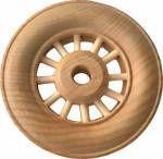 "2 3/4"" (70mm) Deluxe Treaded Spoked Wheel"