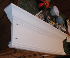 Perfect tutorial on over the door trim and crown moulding