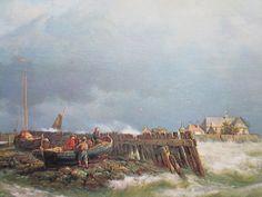 Schokland, nog een eiland,  ca. 1850 schilderij van Hermanus Koekkoek