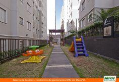 Paisagismo do Reserva do Itacolomi. Condomínio fechado de apartamentos localizado em Mauá / SP.