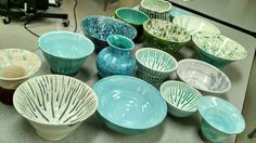 High School Art: Ceramics. Wheel thrown pottery. Art Teacher Jennifer Lipsey Edwards