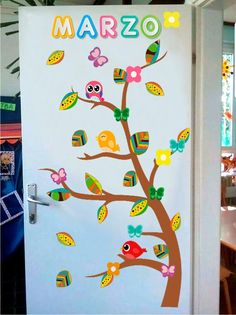 Diy For Kids, Clock, Spring, Handmade, Home Decor, Mom, Home, Classroom Door Decorations, School Decorations