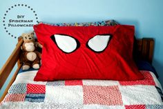 Boy, Oh Boy, Oh Boy!: Handmade Gifts For Boys: DIY Spiderman Pillowcase