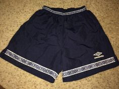 Sale Vintage UMBRO blue sports shorts running retro by casualisme