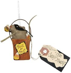 primitives by kathy halloween candy bandit mouse ornament - Primitives By Kathy Halloween
