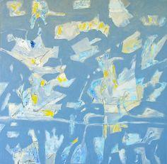 Gallinero azul, 100X100cm. acrílico/lienzo Jose Balagueró 2014