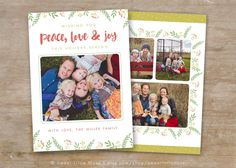 Christmas Card template  Holiday card template  by SweetLittleMuse