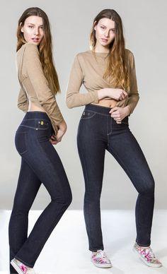 Classic Rise Slim Pull-on Yoga Jean - Prague Denim Outfit, Slim Legs, Snug, Tights, Skinny Jeans, Yoga, Collection, Prague, My Style
