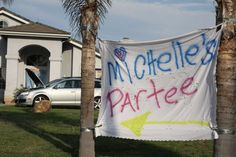 awesome trailer trash party partee sign