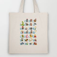 ABC  medieval (spanish) Tote Bag