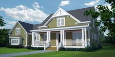 The Forestridge is offered by SDC House Plans. View more Southern Living House Plans on the SDC website. Southern Living House Plans, Cottage House Plans, Cottage Homes, House Floor Plans, Classic Home Decor, Classic House, Hacienda Homes, Interior Columns, House Construction Plan