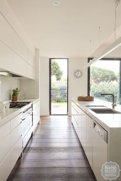 Floor-to-ceiling windows cause an outside feel and capture fragile or vibrant modifications in weather condition while upgrading the interiors with a natural atmosphere. Tags: floor to ceiling windows Kitchen Island With Sink, Sink In Island, White Kitchen Cabinets, Kitchen White, Island Bench, Cherry Cabinets, Kitchen Cupboard, Kitchen Islands, Cupboards