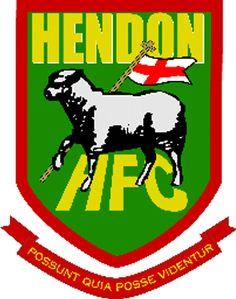Hendon FC of London, England crest. London Football, British Football, Exeter City, Sports Clubs, Sports Logos, Football Team Logos, St James' Park, Team Mascots, London Clubs