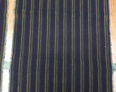 Antique INDiGo Striped CoTToN FABRIC - FREE SHiPPinG!!!