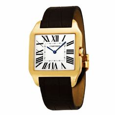 Opt for luxury this with in This beautifully crafted Cartier timepiece is perfect for the watch fanatic. Mens Watches Leather, Watches For Men, Cartier Calibre, Mens Rose Gold Watch, Gold Leather, Brown Leather, Cartier Santos, Watch Sale, Inspirational Gifts