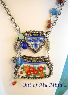 Blueberry Gardens ~ Out of My Mind Necklace